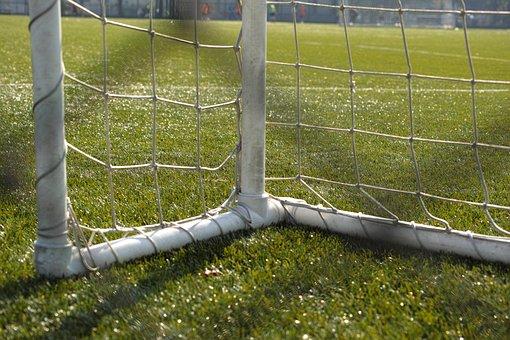 Football, Castle, Goalie, Grass, Ball, Match, Sports
