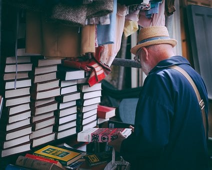 People, Man, Books, Read, Display, Clothes, Store