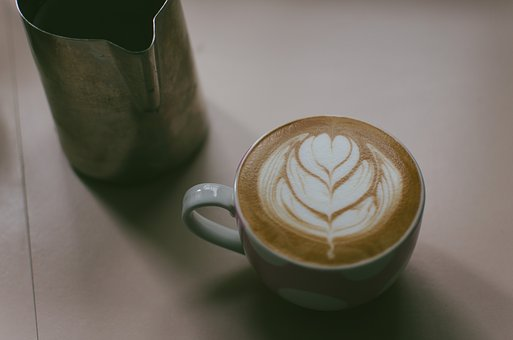 Coffee, Latte, Art, Steamed, Milk, Drink, Shop, Cup