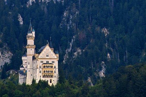 Castle, Neuschwanstein Castle, King Ludwig