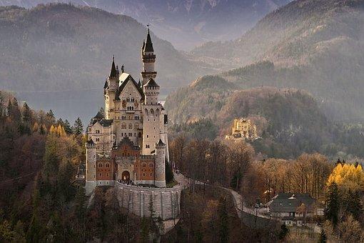 Neuschwanstein, Castle, Germany, Landmark, Architecture