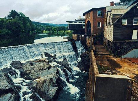 Nature, Landscape, Man Made, Falls, Rocks, Water, Lake