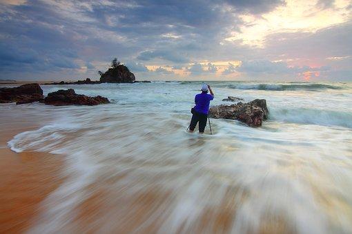 Sea, Ocean, Water, Waves, Rocks, Formation, Sand, Beach