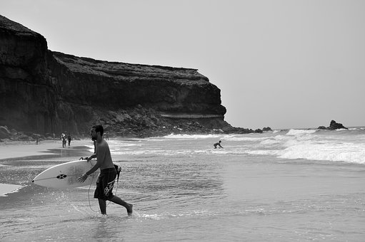 Sea, Ocean, Water, Beach, Coast, Shore, People, Men
