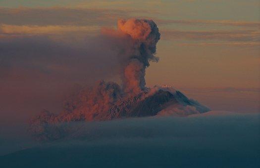 Sky, Clouds, Volcano, Explosion, Smoke