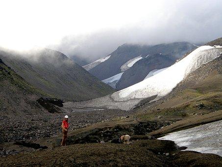 Mountains, Snow, Summer, Stroll, Fog, Landscape, Nature