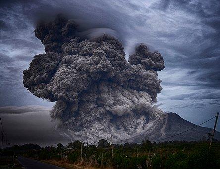 Volcano, Explosion, Nature, Eruption, Smoke, Trees