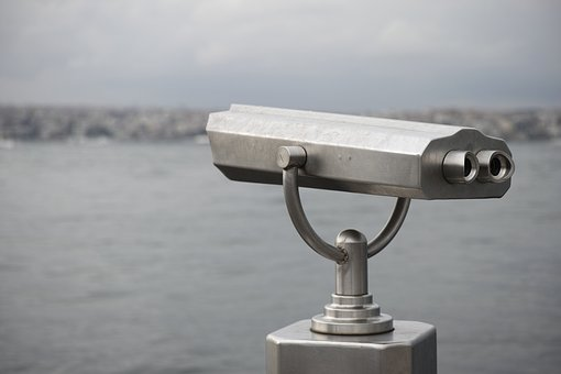 Binoculars, Landscape, Marine, Remote, Eye, Background