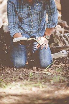 Guy, Man, Male, People, Kneel, Bust, Torso, Read, Book
