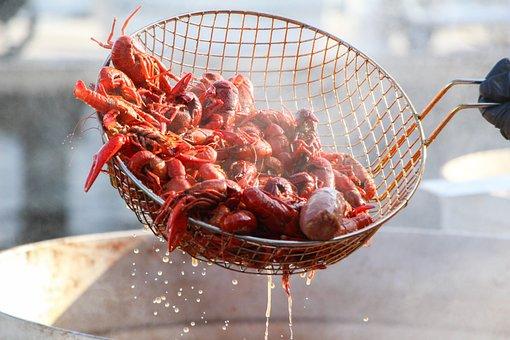 Crawfish, Seafood, Food, Prepared, Cooked, Boil, Rustic
