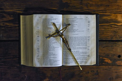 Bible, Book, Reading, Cross, Crucifix
