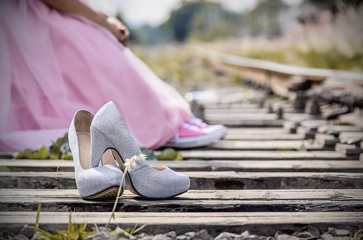 Shoes, Pink, Dress, Women, High Heels, Fashion, Outside