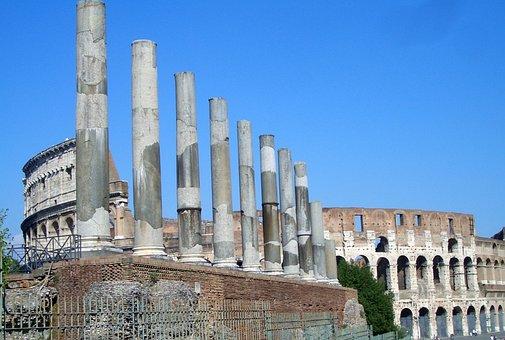 Rome, Italy, Antiquity, Columnar, Colosseum, Romans