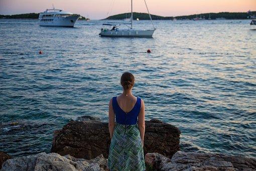 People, Woman, Solo, Fashion, Beauty, Ocean, Sea, Water