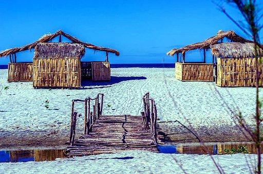 White, Sand, Beach, Ocean, Sea, Water, Blue, Sky