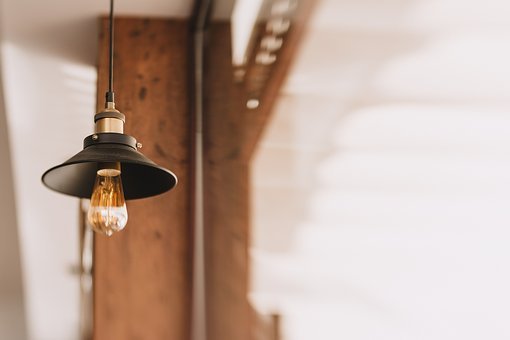 Lamp, Light, Bulb, Electricity, Hang, Steel