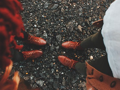 Stones, Road, Leather, Shoes, Pairs, Brown