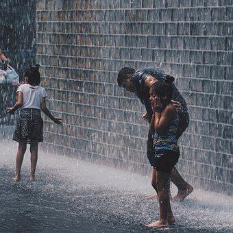 Cold, Water, Rain, Rainy, Wet, People, Man, Kids, Girls