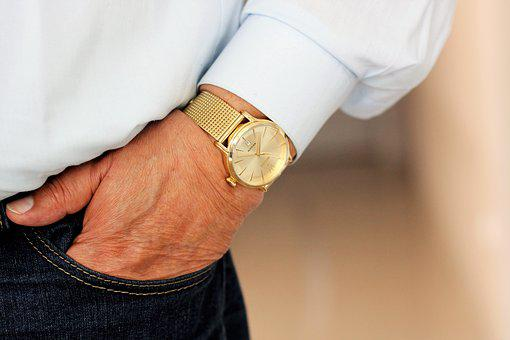 Watch, The Hand, Wrist, Male, Wrist Watches