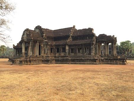 Ankor Wat, Cambodia, Wat, Angkor, Architecture, Asia