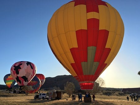Balloon, Hot Air Balloon, Colorful, Sky, Flight, Blue