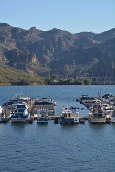 Marina, Boats, Lake, Saguaro Lake, Salt River, Water