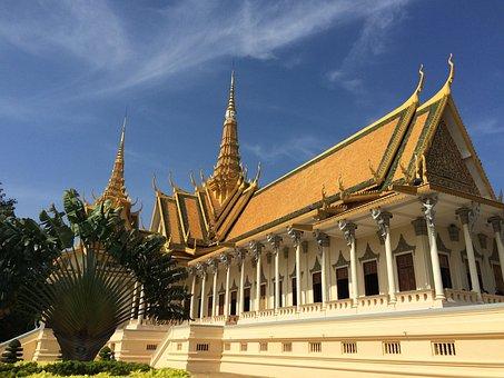 Palace, Phnom Penh, Brilliant, Cambodia