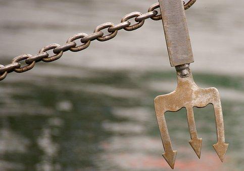 Ship, Spear, Neptune, Anchor, Poseidon, Trident, Chain