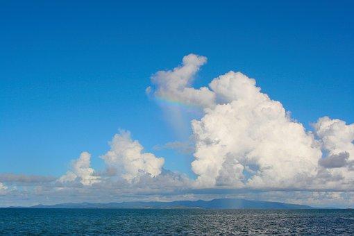 Cloud, Sky Blue, White, Iriomote, Sea, Marine Blue