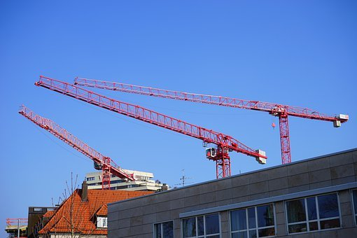 Construction Cranes, Cranes, Site, Construction Work
