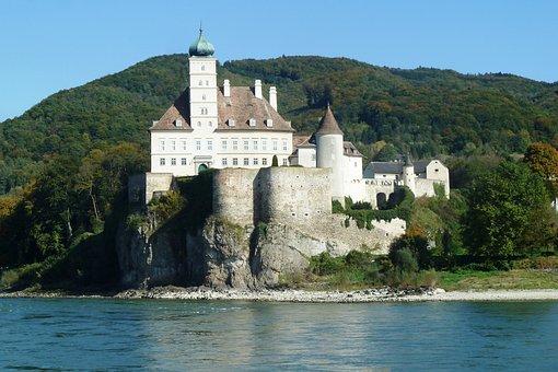Castle, Schoenbuehel, Wachau, Danube, Donauegion, River