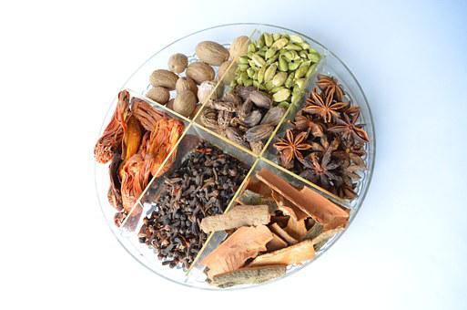 Spices, Bowl, Cardamon, Food, Ingredients, Cooking