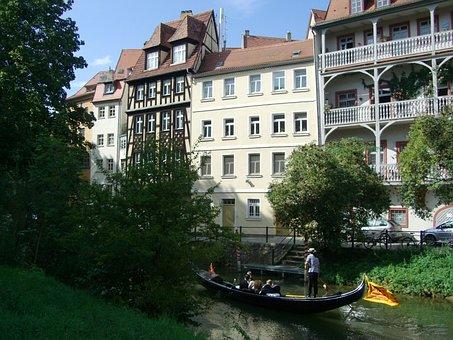Bamberg, Gondola, Small Venice, Town On The River