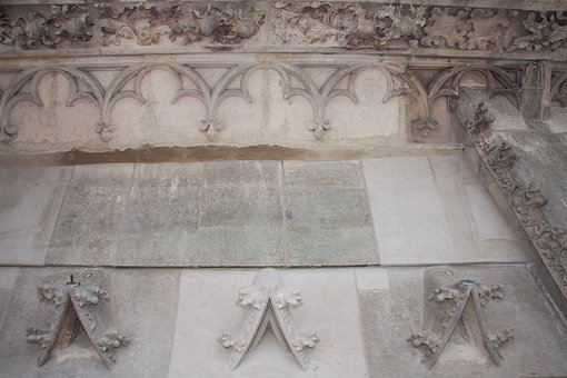 Wimperg, Panel Tracery, Leaf Frieze, Gothic