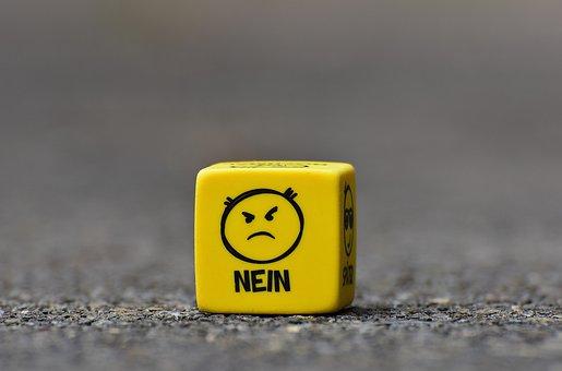 Smiley, No, Grim, Cube, Funny, Faces, Emoticon, Mood