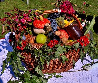 Fruit Basket, Fruits, Harvest, Basket, Vegetables