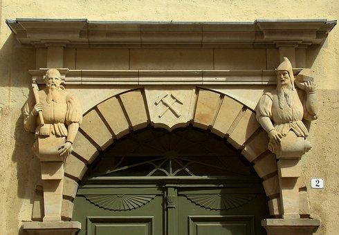 Sculpture, House, Facade, Input, Architecture, Figure