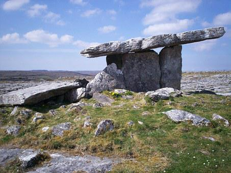 Dolmen, Celtic, Artifact, Menhir, Ireland, Poulnabrone
