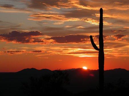 Arizona, Landscape, Scenic, Sunset, Sky, Clouds