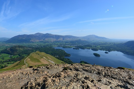 The Lake District, Derwent, Water, Landscape, Summer