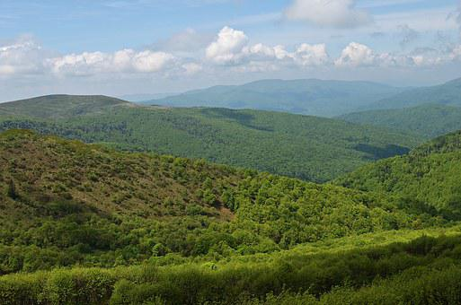 Mountains, Landscape, Bieszczady, Nature, Top View