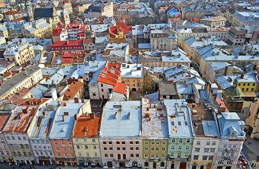 Lviv, Ukraine, City, Market Square, At Home