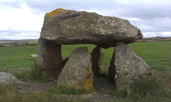 England, Dolmen Carreg Samson, Megaliths, Celts