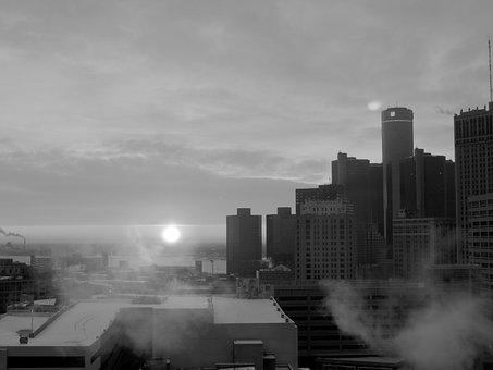 City, Detroit, Building, Michigan, Architecture