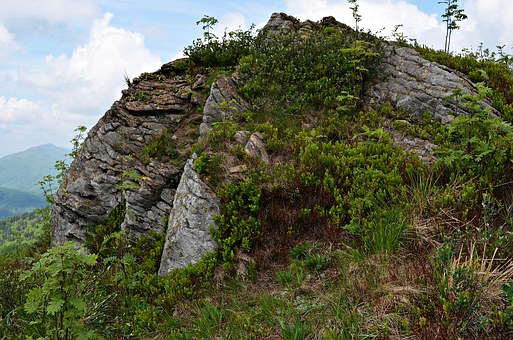 Rock, Mountains, Landscape, Bieszczady, Nature