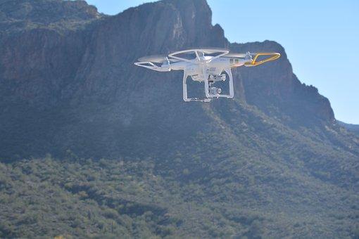 Drone, Mountains, Arizona, Dji, Dji Phantom 3
