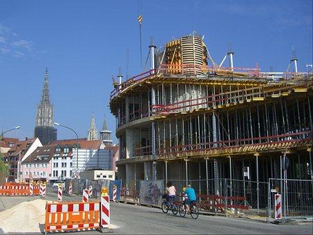 Site, Construction Work, Scaffold, Münster Views, Ulm