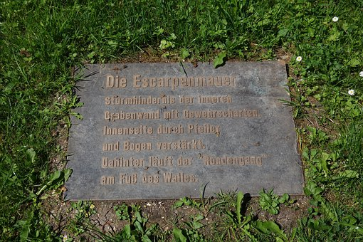Plate, Information, Steinplatte, Font, Tourism, Park