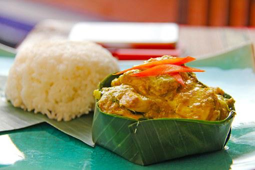 Fish Amok, Fish, Rice, Yummy, Delicious, Local
