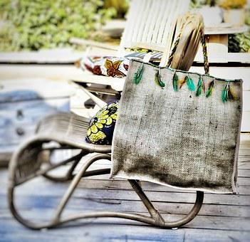 Mode, Novelty, Summer, Corsican, Bag, Sackcloth
